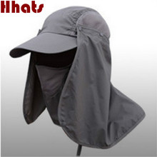 [which in shower]unisex waterproof face neck veil cover fishing cap outdoor summer sun hat women men gardening hiking bucket hat(China)