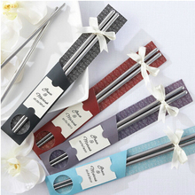 100Set Personalized Metal Chopstick Kitchen Tool Cheap Wedding Gifts For Guests Birthday Wedding Bridal Party Souvenirs Idea