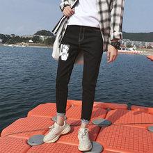 baa5fbc8d0d5 Männer schwarze dünne jeans shorts casual männer hosen männer kleidung der  trend dünne abschnitt kleine größe