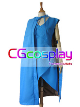 Free Shipping Cosplay Costume Games Game of Thrones Blue Dress+Cloak New in Stock Halloween Christmas Party Uniform