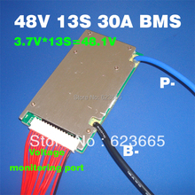 48V BMS 13S BMS used for 48v 10ah 20ah 30ah 40ah 50ah li-ion battery pack 3.7v cell 13s PCM / PCB / BMS With balance function(China)