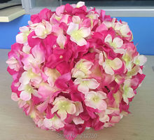Express free shipping 6 colors 25CM artificial hydrangea decorative blue hydrangea silk flowers ball 10pcs/lot A1246