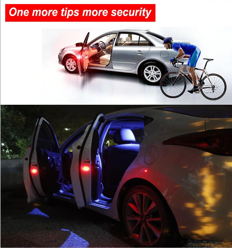 4pcs car door warning Lights led Wireless lights Opening Flashing Anti Collision Magnetic Auto Strobe Traffic Light Safety light(China)