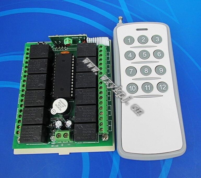 12 12v wireless switch 12 key wireless remote control<br><br>Aliexpress