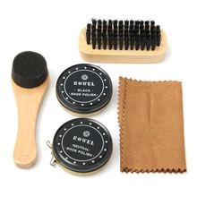Shoe Shine Care Kit Neutral Polish Brush Leather Shoes Boots Sneaker(China)