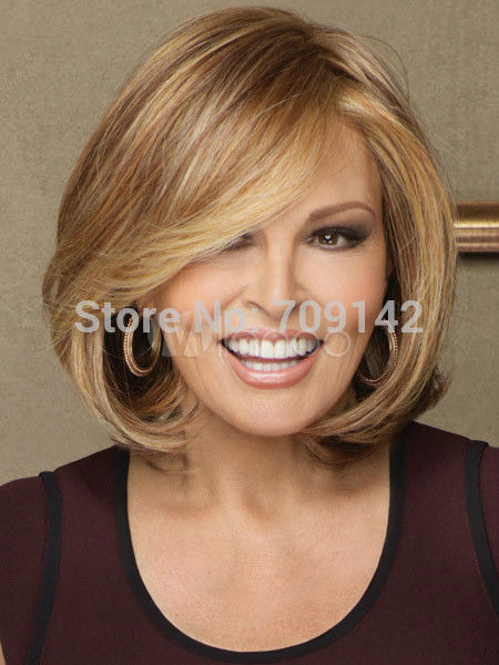 Fashion Charm Womens short Brown Blonde Natural Hair wigs Kanekalon hair no lace front wigs fast deliver 26% discount<br><br>Aliexpress