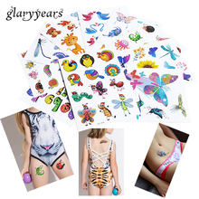 10 Pieces/Set Glitter Temporary Tattoo Sticker Child Interest Flash Princess Octopus Style Women Love Tattoo 18 Designs HS Decal(China)