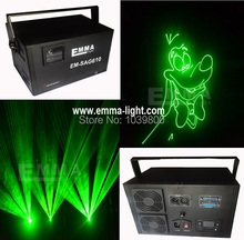1W Green laser programmable sd card player Laser stage lighting with flight case packing