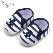 Simple Kids Toddler Shoes Soft Rubber  Casual Embroidered Animal Picture Outdoor Baby Girl Boy Shoes For 0-15 Months