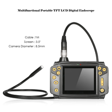 "3.5"" 8.5mm TFT Digital Endoscope Borescope Pipe Inspection Snake Camera microscope Lighting Brightness Zoom Image FreezeFunction"