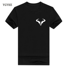 YGYKE brand Mens Rafael Nadal Bull Logo short sleeves T-shirt Summer T Shirt Roger Federer Perfect RF Clothing Men Cossfit Tops