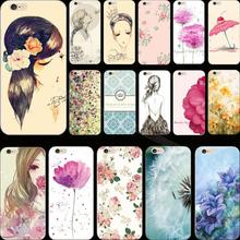 Wholesale Price Popular Painted Flower soft Cover Case For Apple iPhone 5C iPhone5C Cases Phone Shell Pretty Fashion Best Choose(China)