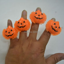 Free shipping 1152pcs/lot orange LED flashing pumpkin ring flash finger ring LED finger light ring for halloween supplies toys