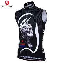 X-Tiger 2017 Racing Bicycle Clothing Sleeveless Cycling Vest Jersey MTB Bike Sportswear Clothes Maillot Ropa Ciclismo For Man(China)