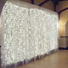 Outdoor Home Decoration 3M x 3M 304 LED icicle curtain string light fairy light 304 Bulbs Wedding home garden Christmas 220V(China)