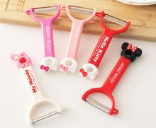 (5 Pcs/Lot) Beautiful Hello Kitty My Melody Minnie Stainless Steal Kitchen Peeling Knives With Retail Pack(China)