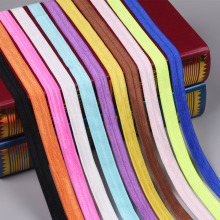 High quality elastic ribbon handmade band colorful 10 yards/lot 15mm width for diy tie hair fabric elastic decoration