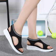 Buy New 2018 women sandals casual flat platform summer shoes women comfortable breathable sport sandals beach shoes big size 35-45 for $16.96 in AliExpress store