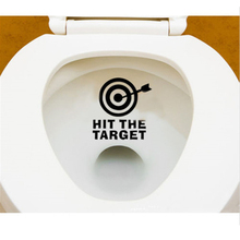 2016 Hot Sale Funny HIT THE TARGET Bathroom Toilet Urinal Sticker Reminder for Him Her New Arrivals Free Shipping