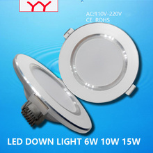 10pcs/lot Led Downlights 6W 10W 15W 20W 30W 110V/220V LED Ceiling Downlight 2835 Lamps Led Ceiling Lamp Home Indoor Lighting(China)