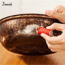 2pcs/lot Magic Stainless Steel Rod Stick Metal Rust Remover Cleaning Pan Pot Brush Pot Cleaning Brushes Clean Removing Kitchen
