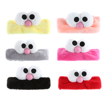 1PC Women Cute Big Eyes Headband Girls Plush Headband Turban Elastic Head Wrap Hairband Multi-Colors Hair Band New Style Fashion