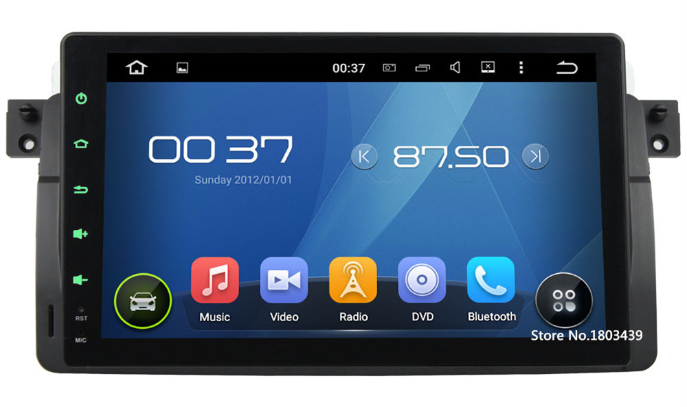 9″ HD 1024*600 Quad Core 3G/4G WIFI Android 5.1 DAB+ Car DVD Player Radio GPS For BMW 3 Series E46 318 320 325 330 M3 1998-2006