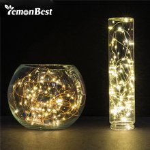 LemonBest 20 Leds 2M String LED Copper Wire Fairy Lights Christmas Lights Indoor for Festival Wedding Party Home Decoration Lamp(China)