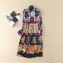 Apr13 Spring Summer Dress Best Buy New Collection Women Vintage ladies print dresses Women's Clothing Free Shipping 370(China)