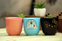 Sales New Arrivals Kawaii Doraemon Cartoon Novelty Hello Kitty porcelain Cute pink Milk Coffe Juice water Readily Mug BW45