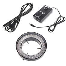 60 LED Adjustable Ring Light illuminator Lamp for STEREO ZOOM Microscope Microscope EU Plug(China)