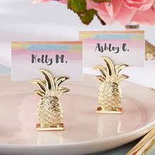 100pcs Mini Gold Pineapple Table Place Card Holder Name Number Menu Stand For Wedding Favor Party Event Party Decoration ZA1394