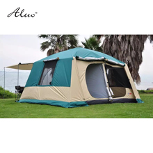 8-10 person 4*3*2.17 meter 3 rooms Large military tents outdoor camping tent waterproof 5000PU beach tent for Family outings