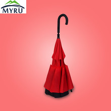 8 ribs Creative reverse open umbrella double layer umbrella water repellent reverse umbrella car umbrella