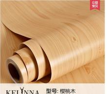 With thick waterproof PVC wood grain stickers Boeing film from the sticky wallpaper wardrobe cabinets old door furniture -120