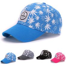 HATLANDER Street cotton 6 panels baseball cap snapback hats embroidery patch weeds printed cap hats for men women