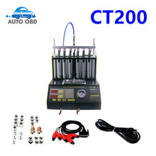NEW Arrival CT200 gasonline 6/4 cylinder Car Motorcycle Auto Ultrasonic Injector Cleaning Tester machine 220/110V