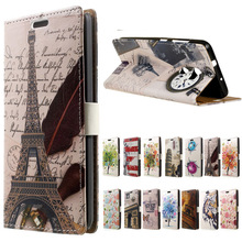 for HTC x10 case Eiffel Tower cartoon Flip Leather Wallet book Cover case for Flip (HTC One X10) E66 5.5 inch phone cases coque