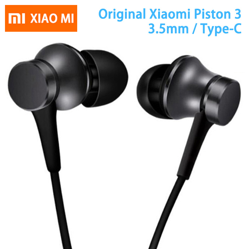 Original Xiaomi Earphone Mi Piston 3 Fresh Version In-Ear with Mic Wire Control for mobile phone xiaomi earphones headset 3.5mm(China)