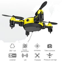 Buy WiFi Pocket Drone RC Helicopter Helicopter 4Axis Gyro Quadcopter Foldable Selfie Drone RTF UAV Mini Headless Mode Drones New Hot for $33.18 in AliExpress store