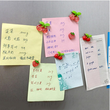 10pcs Creative fruit resin fridge magnet home decoration Cherry Strawberry refrigerator magnetic stickers, Free Shipping.(China)