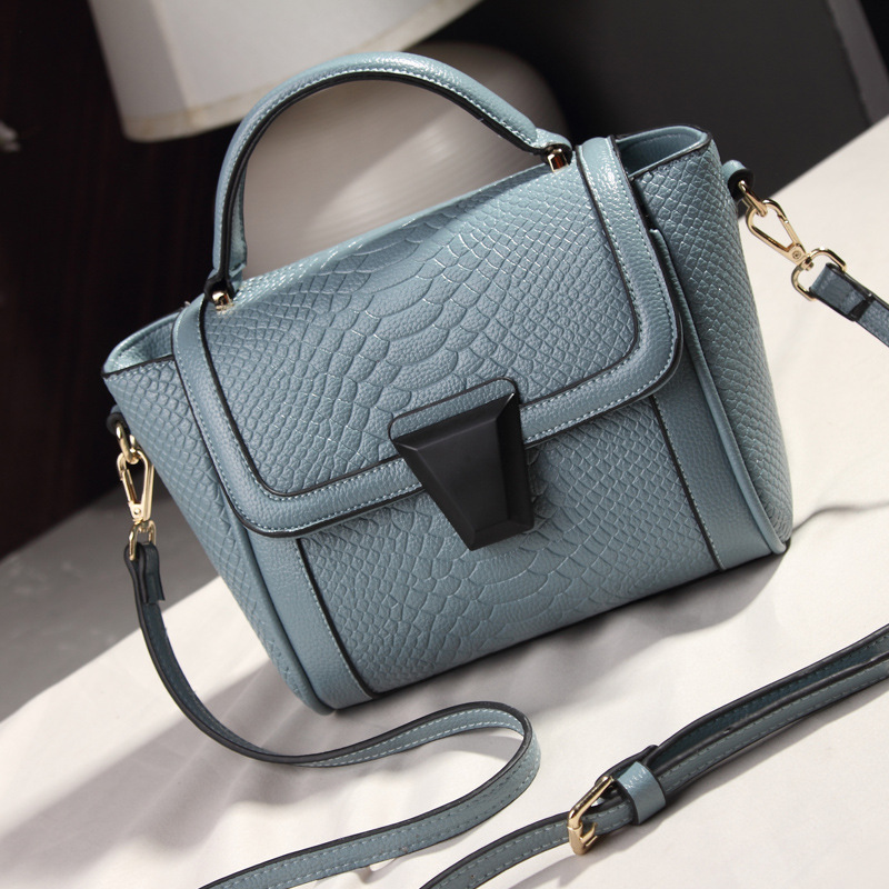 2016 New Womens Candy Color Handbag Vintage Women Messenger Bag High Quality Crocodile Day Clutch bags Fashion Shoulder Bag<br>