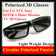 4pcs  Passive 3D Glasses for RealD 3D Movie Cinemas and LG Passive 3D TV Circular Polarized 3D Glasses Free Shipping