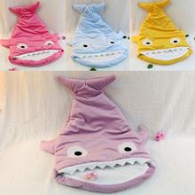 Hot selling plush stuffed kids animal shark sleeping bag baby quilts made in China free shipping