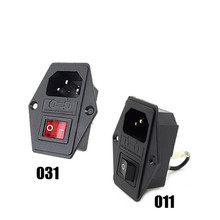 1PC 250V 10A Male AC Power Cord Inlet Plug Socket With Rocker Switch Fuse Holder SA179 T50