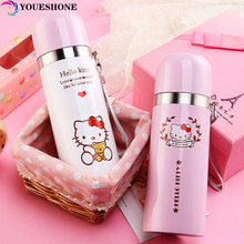 Cretive Hello Kitty Stainless Steel Double Wall Vacuum Flask Termos Coffee Mug Travel Tumbler Water Bottle Thermos Car Cup