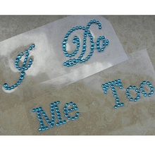 I Do Me Too Blue Bridal Rhinestone Shoes Decal Sticker Set Appliques Something Blue Wedding Decoration Comfortable Hot(China)