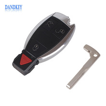 Dandkey Replacement 3+1 4 Buttons Smart Remote Car Key Shell Case Fob For MERCEDES BENZ KEY FOB 4 BUTTON Keyless Entry