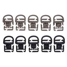 5pcs/Pack Rotatable D-Ring Bag Buckle Webbing Carabiner Strapping Bags Garment Accessorie Buckle Outdoor Tools