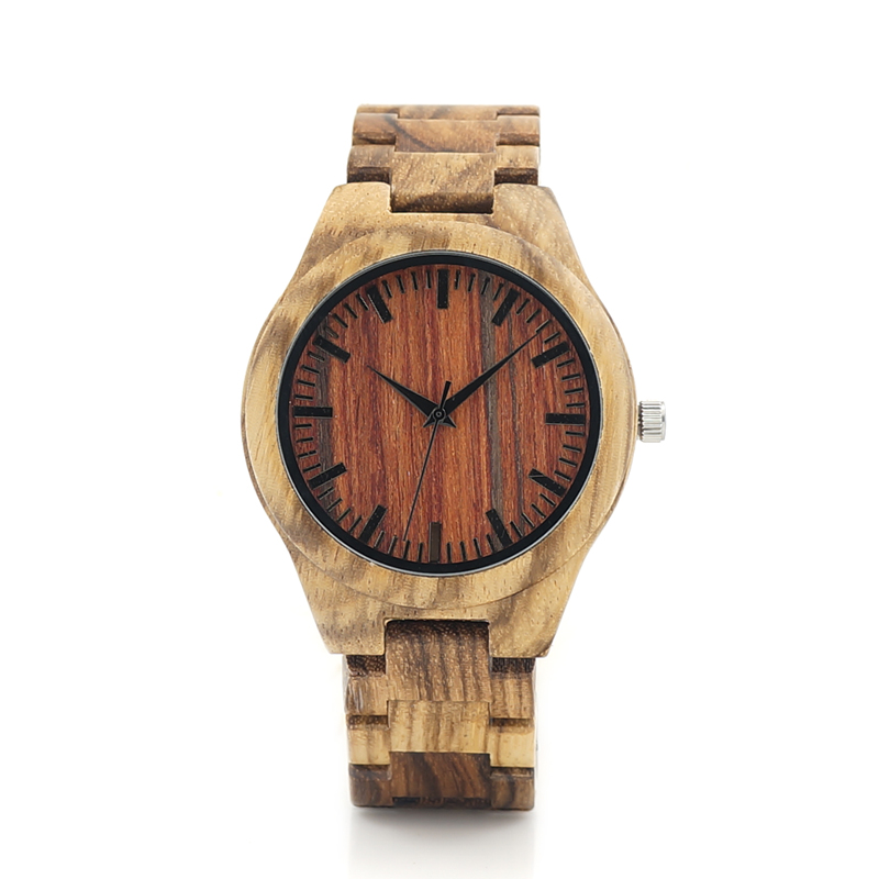 BOBO BIRD K27 Zebra Wooden Wristwatch Mens Brand Design Red Wooden Dial Quartz Watch Wood/Leather Strap Available in Gift Box<br><br>Aliexpress